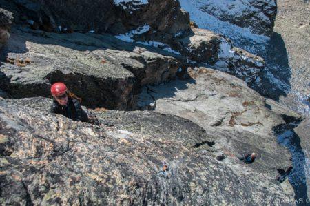 Kletterei am Wiwannihorn